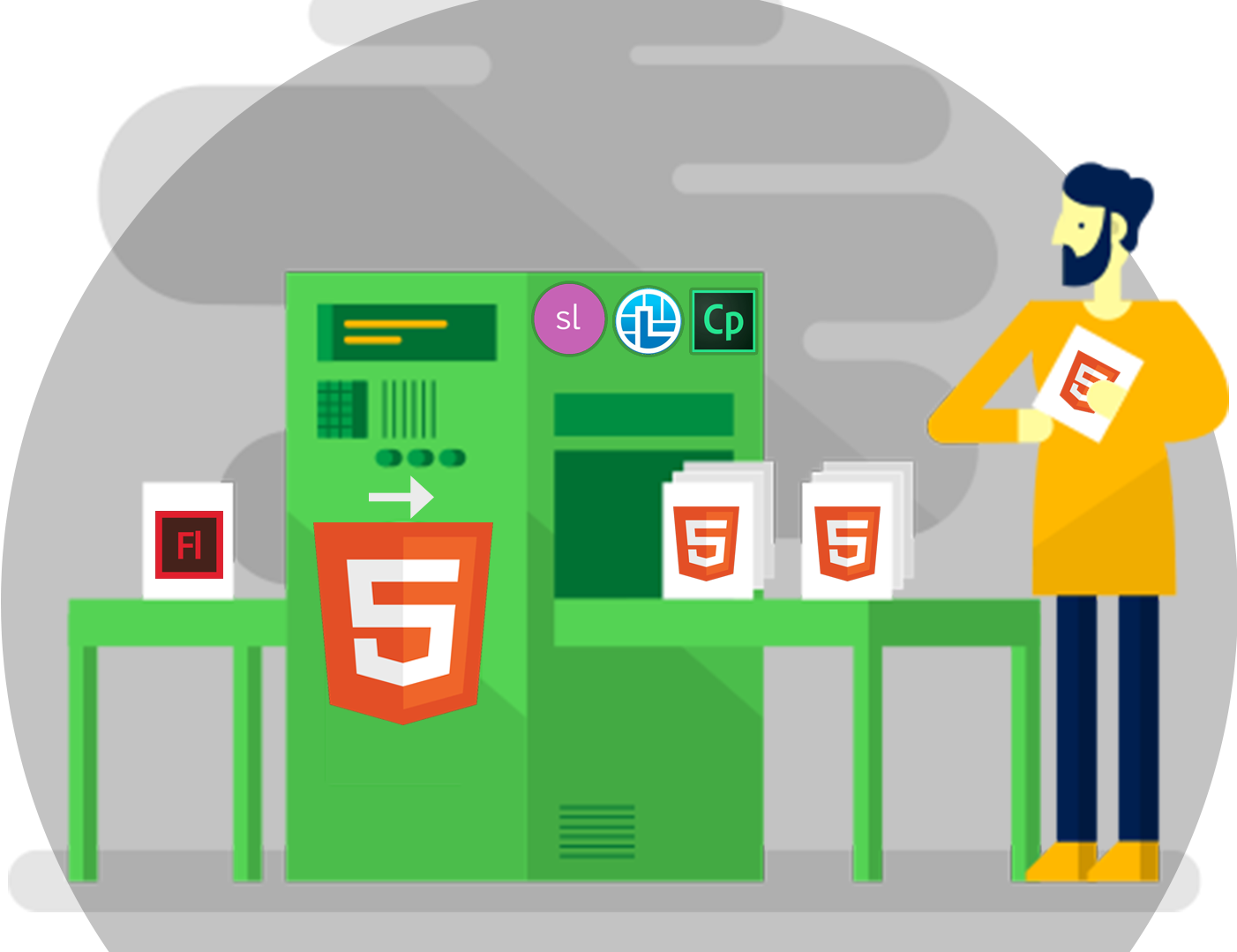 Flash-to-HTML5-service